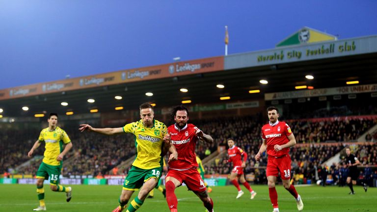 Nottingham Forest let a 3-0 lead slip at second-place Norwich on Boxing Day