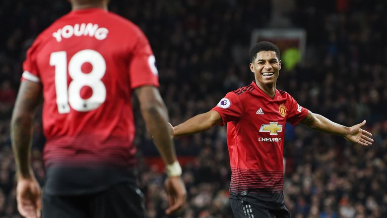 Marcus Rashford scored United's last goal after already recording two assists