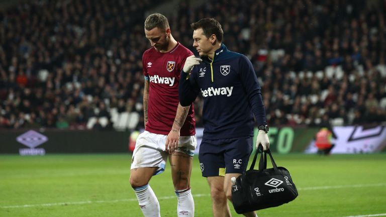 Marko Arnautovic has been ruled out for a month with a hamstring injury
