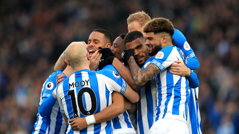 Mathias Jorgensen scored just his second goal for Huddersfield