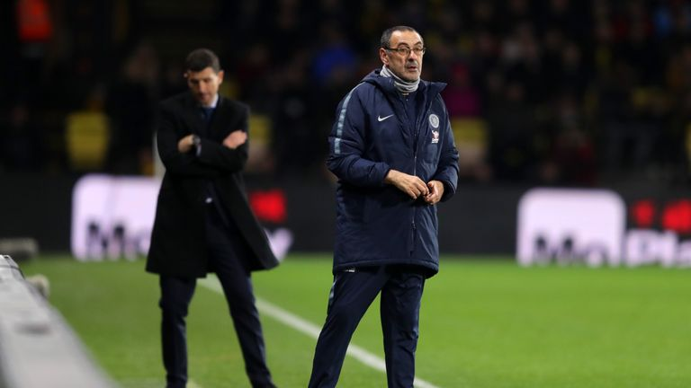 Maurizio Sarri traveled back from Chelsea's humiliation at Bournemouth alone