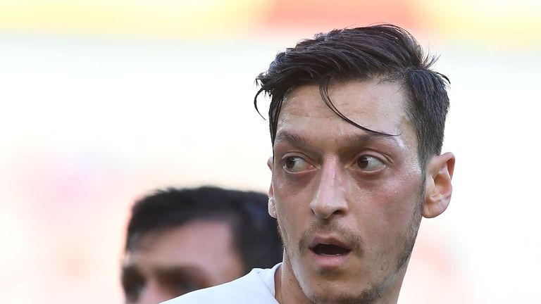 Mesut Ozil of Arsenal during the Premier League match between Arsenal FC and Burnley FC at Emirates Stadium on December 22, 2018 in London, United Kingdom