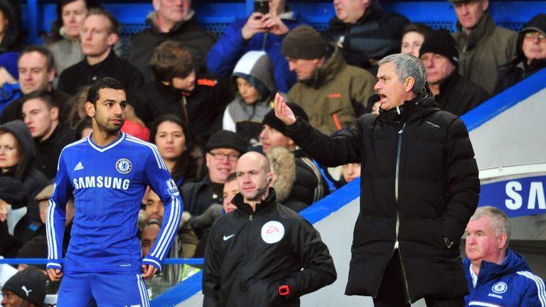 Mohamed Salah and Jose Mourinho at Chelsea