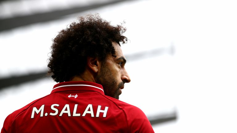 "Liverpool's Mohamed Salah during the Premier League match at Anfield, Liverpool. PRESS ASSOCIATION Photo. Picture date: Saturday September 22, 2018. See PA story SOCCER Liverpool. Photo credit should read: Dave Thompson/PA Wire. RESTRICTIONS: EDITORIAL USE ONLY No use with unauthorised audio, video, data, fixture lists, club/league logos or ""live"" services. Online in-match use limited to 120 images, no video emulation. No use in betting, games or single club/league/player publications."