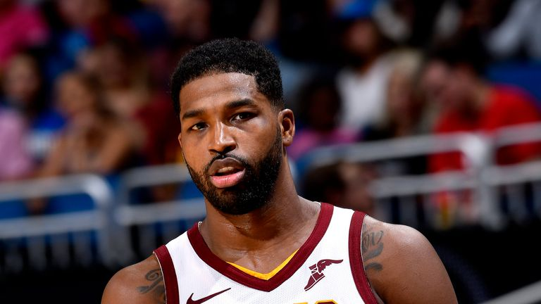 ORLANDO, FL - NOVEMBER 5: Tristan Thompson #13 of the Cleveland Cavaliers looks on against the Orlando Magic on November 5, 2018 at Amway Center in Orlando, Florida. NOTE TO USER: User expressly acknowledges and agrees that, by downloading and or using this photograph, User is consenting to the terms and conditions of the Getty Images License Agreement. Mandatory Copyright Notice: Copyright 2018 NBAE (Photo by Fernando Medina/NBAE via Getty Images)