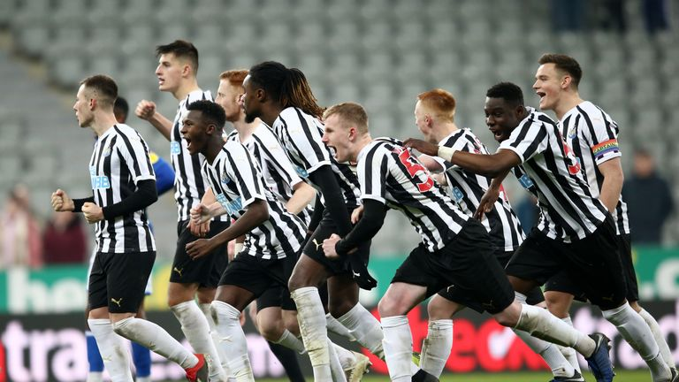 Newcastle's U21s will face Sunderland in round three of the Checkatrade Trophy