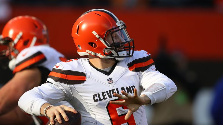Browns quarterback Baker Mayfield is a late addition for Week 15 of the NFL Challenge