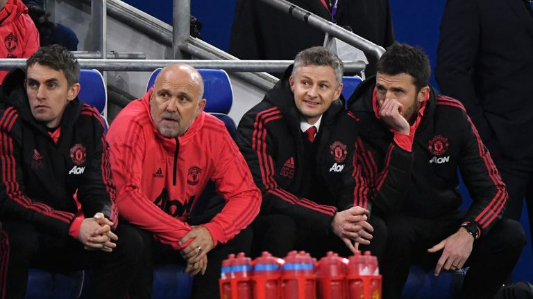 Michael Carrick joined United's coaching team under Jose Mourinho, and now works under Solskjaer