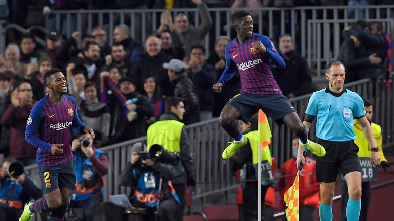Ousmane Dembele got the ball rolling for Barca