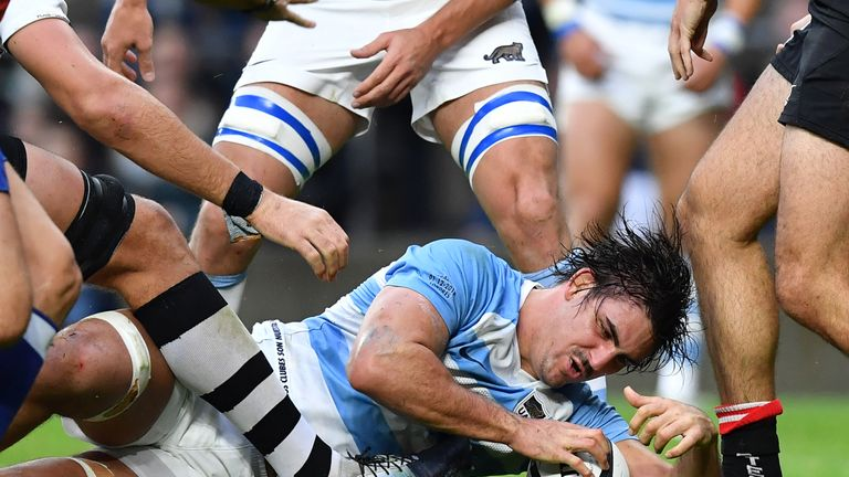 Pablo Matera was one of four Argentina try scorers in the first half as they seemed to take control of the fixture