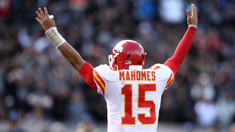Patrick Mahomes has thrown 41 touchdowns over 12 games this season