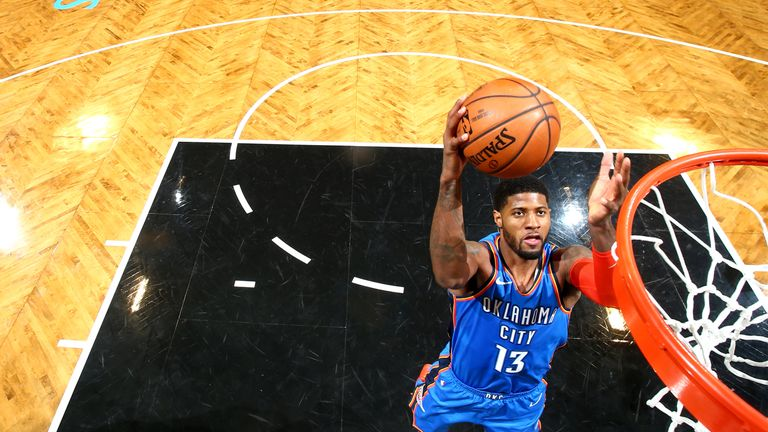 Paul George scores 47 and Russell Westbrook moves up triple