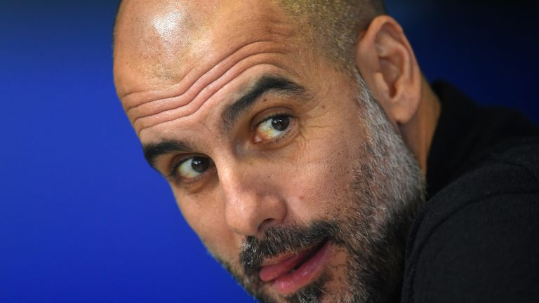 Pep Guardiola has only 15 players available for the Champions League clash