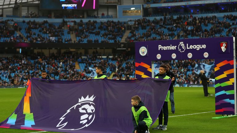 There have been Rainbow Laces handshake boards and walkout flags at Premier League games this weekend