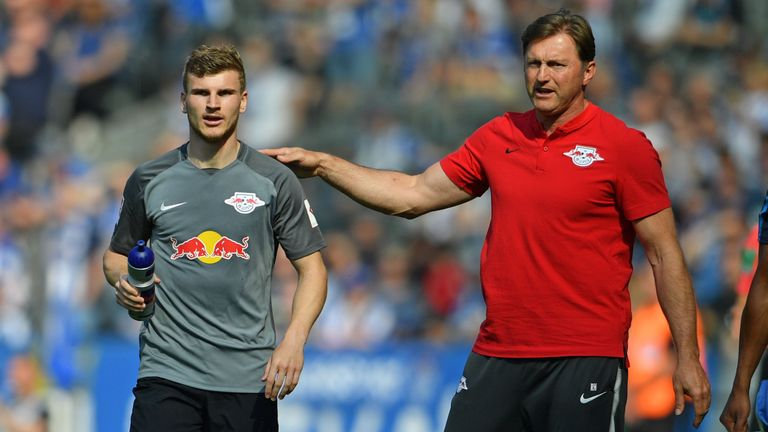 Ralph Hasenhuttl with Timo Werner