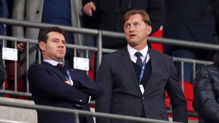 Southampton's new manager Ralph Hasenhuttl watches his side face Tottenham at Wembley