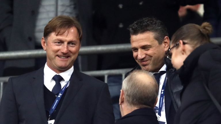 Newly appointed Southampton manager Ralph Hasenhuttl in the stands