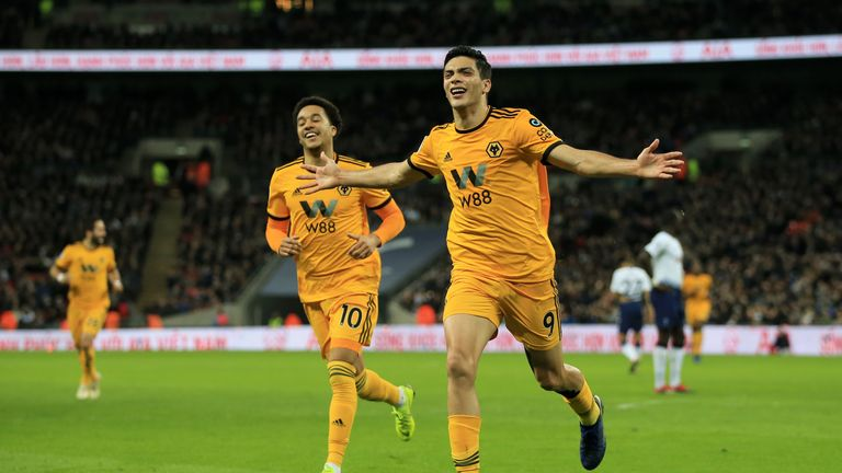Raul Jimenez notched at Wembley to make it 2-1