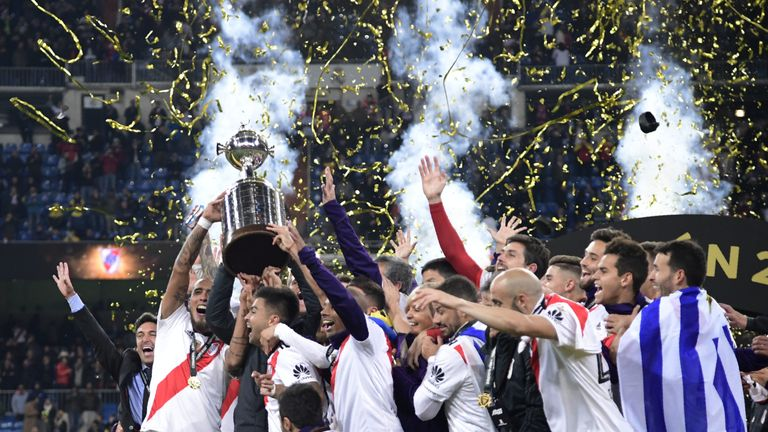 River Plate won the Copa Libatadores for a fourth time with a 5-3 aggregate win over rivals Boca Juniors