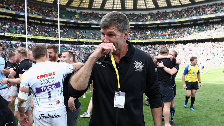 Rob Baxter coached Exeter to the Premiership title in the 2016/17 season