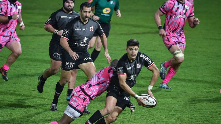 Toulouse's Romain Ntamack caused headaches for the Stade defence