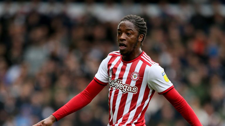 Brentford's Romaine Sawyers during the Sky Bet Championship match against Leeds at Elland Road