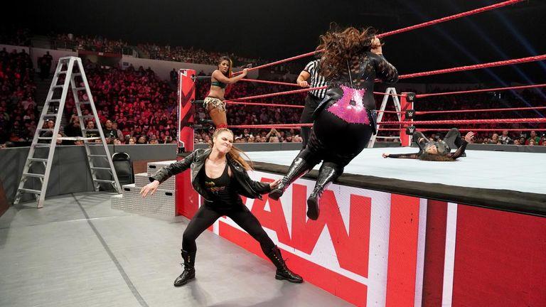 Ronda Rousey finally got her hands on Nia Jax, albeit very briefly