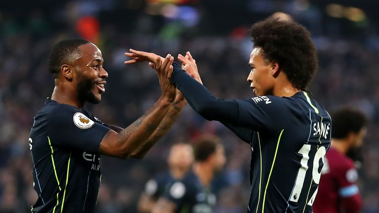 Raheem Sterling and Leroy Sane entered the top 10 in the form chart this week
