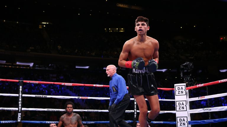 Ryan Garcia, at super-featherweight, impressively moved to 17-0