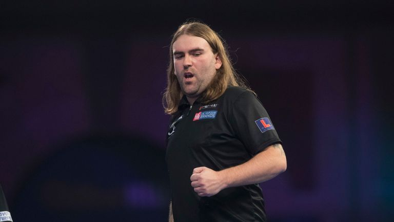 Ryan Searle will attempt to upset Mensur Suljovic next after winning through