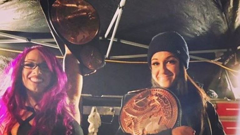 Banks and Bayley have long advocated for women's tag titles, and last year Bayley posted a picture on Instagram of the pair holding WWE tag-team title belts