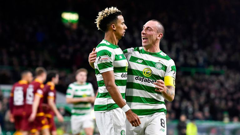 Scott Sinclair doubled Celtic's lead