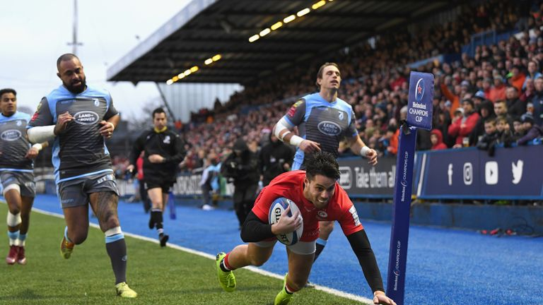 Saracens sit top of Pool Three with four wins from four