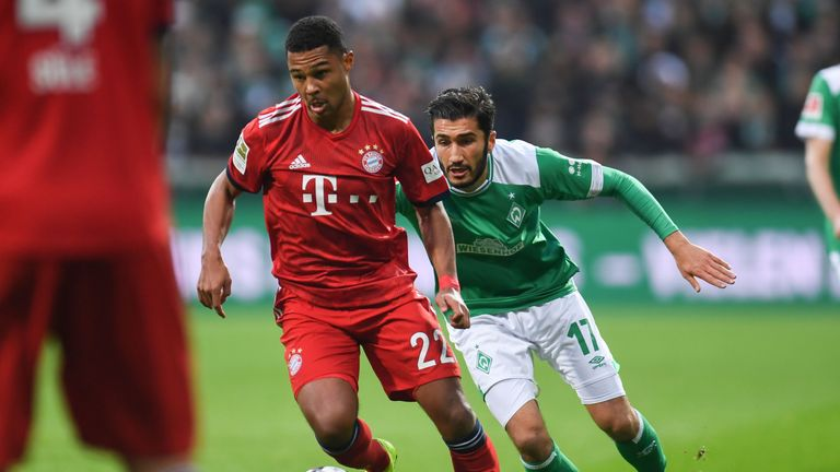 Serge Gnabry scored twice for Bayern Munich