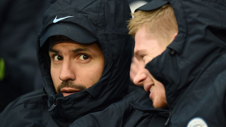 Sergio Aguero and Kevin De Bruyne could both start against Leicester