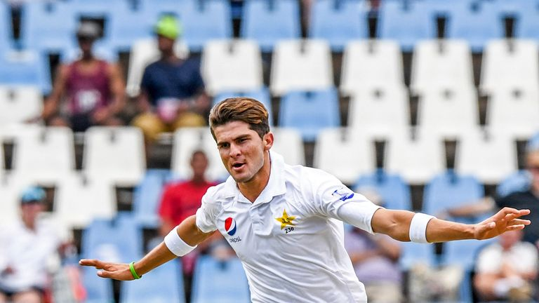 Shaheen Afridi was left disappointed after finding Dean Elgar's edge
