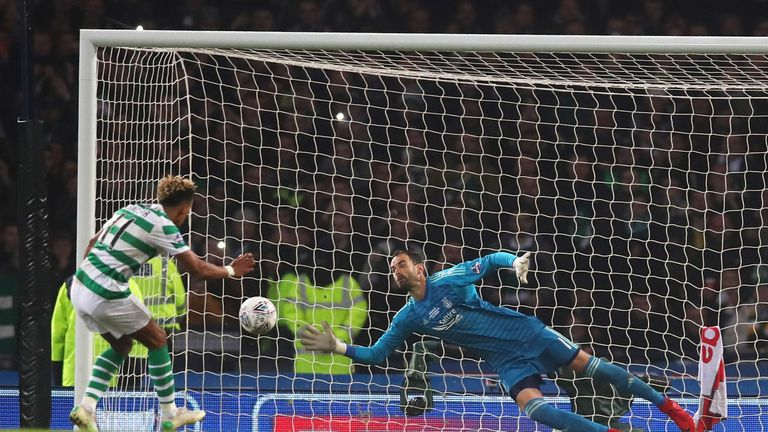 Scott Sinclair saw his penalty saved at Hampden Park last Sunday
