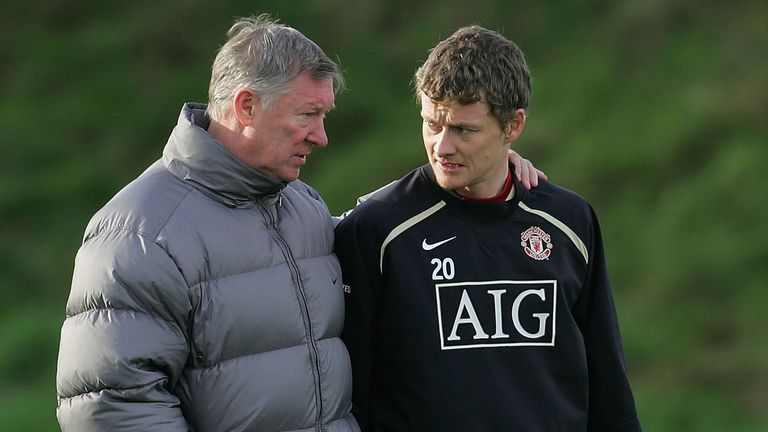 Image result for alex ferguson solskjaer