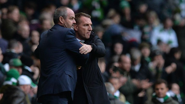 Steve Clarke and Brendan Rodgers meet at Celtic Park on Saturday