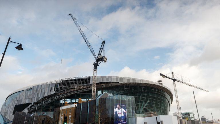 An exterior view of Tottenham Hotspur's new White Hart Lane stadium