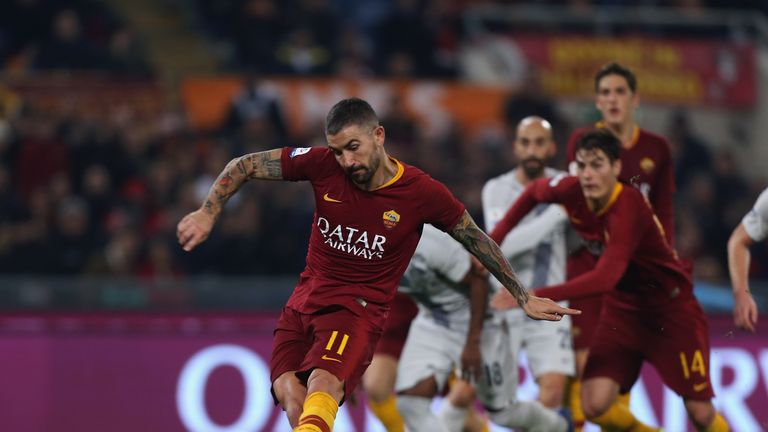 Aleksander Kolarov's VAR penalty earned Roma a point against Inter