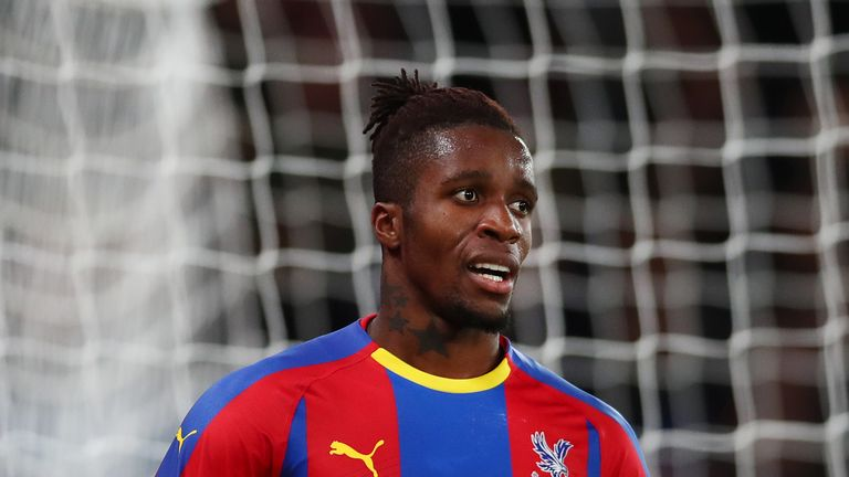 Wilfried Zaha during the Premier League match between Crystal Palace and Burnley FC at Selhurst Park on December 1, 2018 in London, United Kingdom.