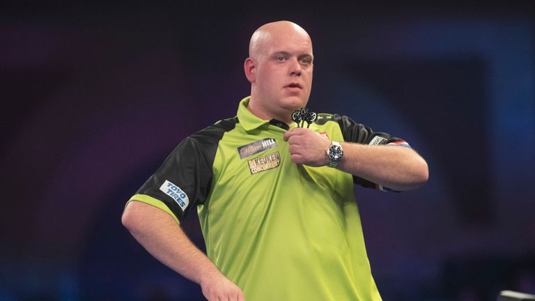 Michael van Gerwen regained his composure to move into the next round