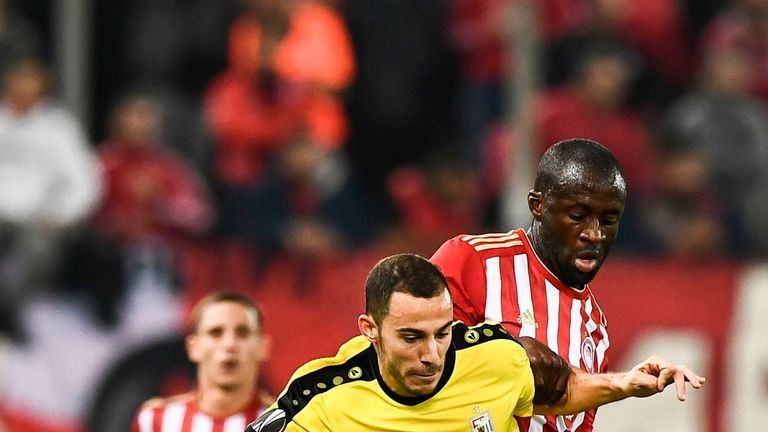Toure made just five appearances for Olympiakos