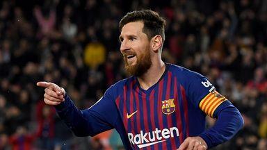 Lionel Messi was Barcelona's match winner against Valladolid