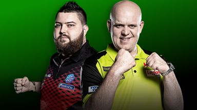 Michael Smith faces Michael van Gerwen on the opening night of the Premier League