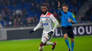 Moussa Dembele's injury-time goal gave Lyon victory