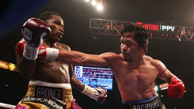 Manny Pacquiao beat Adrien Broner on points in Las Vegas