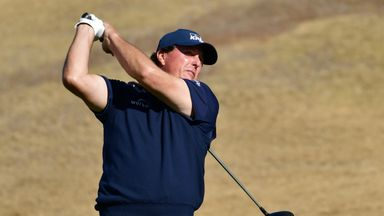 Phil Mickelson has led all three rounds in California