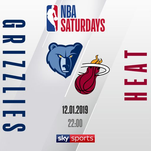 Watch Grizzlies @ Heat free on Sky Sports